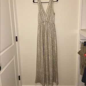 Lulus Gold Textured Gown